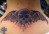 Skull Bat Tattoo by Sammy Bockleman